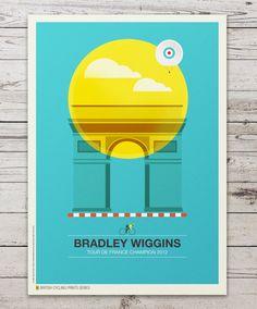 British Cycling Print Series by Neil Stevens