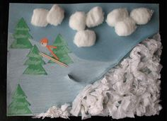 Ski Jump Art Craft: Winter Olympic Crafts for Kids - Kaboose.com