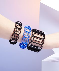 3D printed bracelets at www.dotandbo.com #MYBF #light #flexible