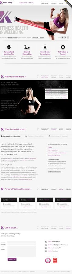 Keira Lacy Personal Trainer | Website Design