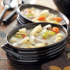 Soup Recipes from Taste of Home, including Cream of Chicken Noodle Soup Recipe