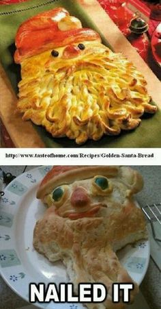 Funny pictures about Santa Bread? Nailed it. Oh, and cool pics about Santa Bread? Nailed it. Also, Santa Bread? Nailed it. Ricky Martin, Baking Fails, Hard Nails, Haha Funny, Funny Stuff, Funny Humor, Funny Things, Ecards Humor, Memes Humor