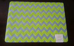 NWT Sonoma Life +Style Lime Green Chevron Placemats (set of 4) #Sonoma