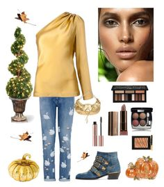 """""""Fall"""" by kotnourka ❤ liked on Polyvore featuring Chloé, STELLA McCARTNEY, Cushnie Et Ochs, Richmond Denim, Chanel, Kat Von D, Yves Saint Laurent, Cultural Intrigue, Napier and National Tree Company"""