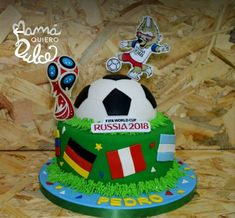 Tortas Birthday Cup, 13th Birthday, Birthday Celebration, Soccer Cake, Flags Of The World, Host A Party, Cake Designs, Fifa, First Birthdays