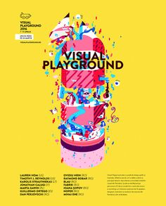 Graphics for Visual Playground 2016, a graphic design and illustration school based in Bucharest, Romania.