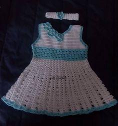 Vestidos de niña tejidos en crochet de milacrochetcr en Etsy https://www.etsy.com/es/listing/528974230/vestidos-de-nina-tejidos-en-crochet