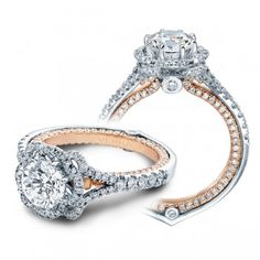 VERRAGIO two toned engagement ring. LOVE IT SO MUCH. SO DETAILED. $4,800