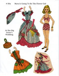 free paper dolls and paintings too Arielle Gabriel's International Paper Doll Society