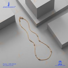 22k Fancy Chain (10.22 gms) - Plain Gold Jewellery for Women by Jewelegance (JG-2006-02793) #myjewelegance #chain #goldchain #lightweightgoldjewellery #dailywearjewellery Light Weight Gold Jewellery, Gold Jewelry, Women Jewelry, Gold Necklace, Gold Chains, Fancy, Bracelet, Simple, Gold Pendant Necklace