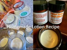 Homemade Lotion Recipe - http://www.Making-Healthy-Choices.com/homemade-lotion-recipe.html