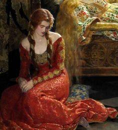 John Collier (1850-1934) - The Sleeping Beatuy (detail) - Angol