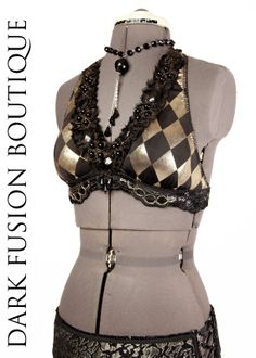 Halter to match the diamond patterned skirt