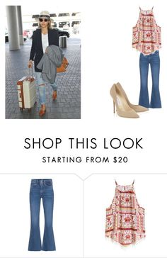 """""""Jessica Alba"""" by de-garbelini ❤ liked on Polyvore featuring M.i.h Jeans and H&M"""