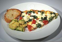 Spinach*Feta*Tomato fritatta