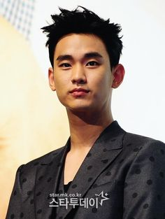 Kim Soo Hyun at press conference for The Producers
