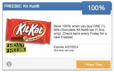 100% Free Kit-Kat Bar @ Savingstar - Hot Deals Find & vote for the hottest deals at www.hotdeals.com Also find us on FB! www.facebook.com/hotdealscom