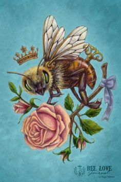 Items similar to Victorian Steampunk HoneyBee Rose - Art Print - Brigid Ashwood on Etsy I Love Bees, Vintage Bee, Bee Art, Bee Design, Victorian Steampunk, Bee Happy, Bees Knees, Queen Bees, Art Prints