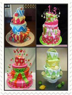 Inspiration Cakes for Topsy Turvy Cakes.