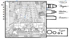 Color Your Own #Fazzino, fun times at Rockefeller Center ice skating this holiday. Have fun coloring it with family on Fazzino.com