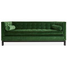 Lampert Sofa by Jonathan Adler, 3,395$ – 4,195$, *-High Tuxedo Back -Bolsters -Nickel Nailhead Trim -CUSTOM UPHOLSTERY Program w/VELVET. & Base Choices