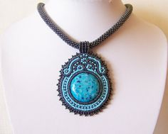 Hey, I found this really awesome Etsy listing at https://www.etsy.com/listing/183482126/beadwork-bead-embroidery-pendant