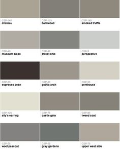 Benjamin Moore – Gray paint colors perspective looks the best for the family room / stair way/ engrance