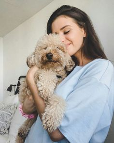 La imagen puede contener: perro e interior Me And My Dog, Love Your Pet, Jessica Conte, Iphone Wallpaper Lights, Toy Goldendoodle, Jess And Gabe, Girly Images, Dog Shots, Cut Animals