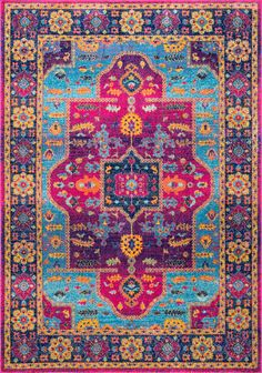 Pretty funky colors in this Rugs USA Bosphorus BD66 Tribal Crux Medallion Rug!