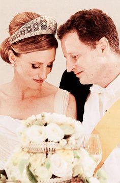 princess of isenburg   ... and Princess Sophie of Isenburg on their wedding day, August 27, 2011