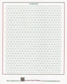 Printable Triangle Quilt Graph Paper
