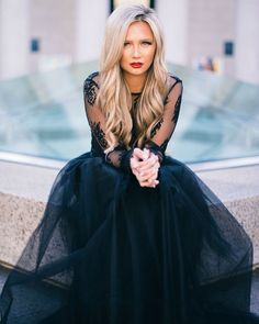 [Stephanie Danielle] black lace and tulle