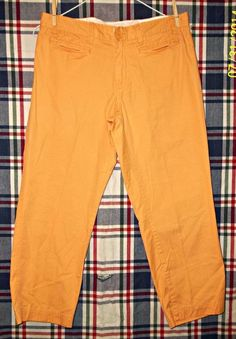 LADIES SIZE 4 TANGERINE CROPPED PANTS BY GAP #GAP #CaprisCropped