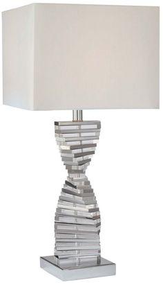 Eidolon Glass White 27-Inch-H George Kovacs Table Lamp -