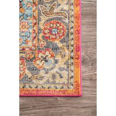 Nuloom Traditional Vintage Tinted Herati Medallion Rust/Multicolor Rug (9' x 12') - 9' x 12'