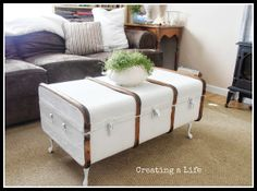 Creating A Life: Vintage Trunk Coffee Table