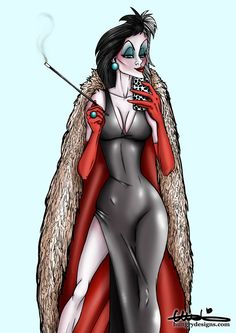 Selfie Cruella Deville from 101 Dalmatians by HungryDesigns.deviantart.com on @DeviantArt