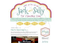 Jack & Sally blog design