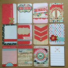 handmade Project Life cards