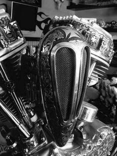 asphaltangel-1:  AsphaltAngel-1.tumblr.com . Harley HarleyDavidson Panhead Engraving Details