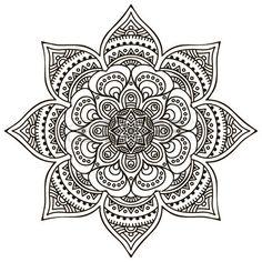 Mandala Round Ornament Pattern Vintage decorative elements Hand drawn background Stock Vector