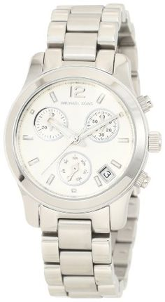 Michael Kors Silver Small Runway Chronograph Watch MK5428: Watches: Amazon.com