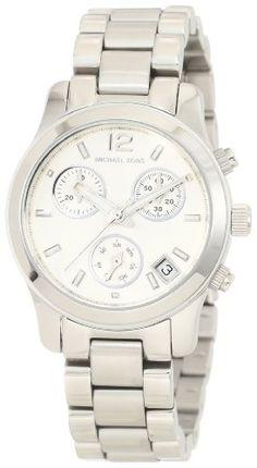 Michael Kors Silver Small Runway Chronograph Watch MK5428: Watches: Amazon.com