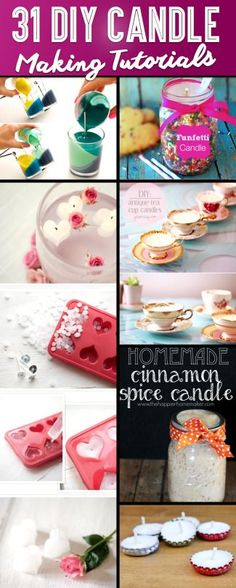 31 Brilliant DIY Candle Making and Decorating Tutorials – Cute DIY Projects Homemade Candles, Diy Candles, Scented Candles, Homemade Gifts, Making Candles, Cute Candles, Teacup Candles, Craft Gifts, Diy Gifts