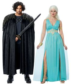 6 game of thrones halloween costumes ideas pinterest khaleesi game of thrones themed couples costume idea solutioingenieria Gallery