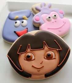 Simple Dora #cookies {sweet sugar belle} --- genius!
