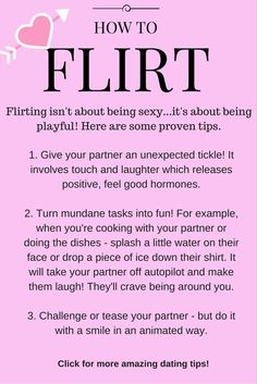 How to flirt with a man online dating