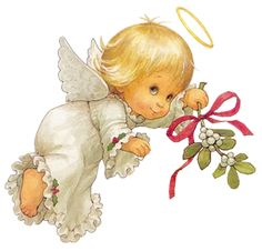Cute Christmas Angel Free PNG Clipart Picture