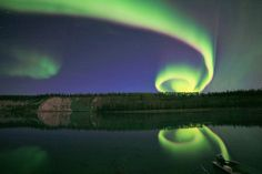 Incredible shot of Spiral Aurora Borealis