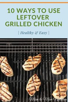 Who says leftovers can't be delicious AND convenient?? Repurpose those grilled chicken into one or more of these quick, delicious meal ideas! Grilled Chicken, Grilling, Yummy Food, Nutrition, Meals, Mom, Healthy, Homemade Food, Recipes